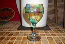 Glass Painting / Beginners at this also, here's some of our efforts.