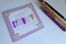 Mes cartes d'anniversaire ✨ / Mes créations de cartes anniversaires ou autres☺️✨