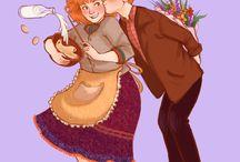 HP Arthur & Molly Weasley
