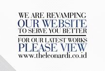 Our New Website / We extremely proud to announce you our new website! Visit us now. :) http://www.theleonardi.co.id