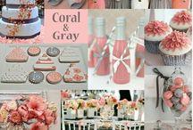 Coral&Grey Wedding