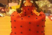beaded doll dress / kjoler