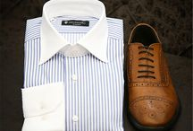SHIRTS, SHOES & ACCESSORIES / Our custom-made Shirts, Shoes & Accessories can be completely personalized to suit your individual preferences. Every single detail can be customized including the fabric, color, design and style.  Partners: ALBATROS & Schuster Shoes