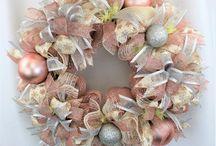 Rose gold garland wreath