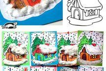 Kids - art - winter