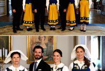 kungligheter och dess kläder