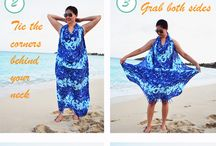 Sarong Tying Styles