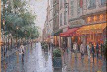 Картины Городской пейзаж / Картины жанра Городской пейзаж. Прекрасные шедевры и произведения художников