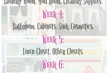 Cleaning, organizing, decluttering