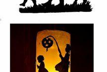 witraże i lampiony