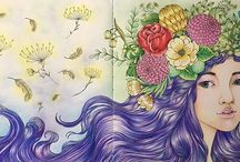 The Mysterious Library Coloring Book / The Mysterious Library Coloring Book by Korean artist Eunji Park is a beautiful coloring book for adults that sets out a number of fairy tales in gorgeous double page illustrations for you to color in and enjoy