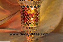 Mosaic Pillar Candle Holder