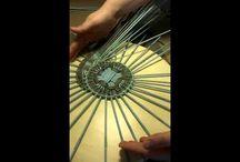 mandaly / pletení z papíru