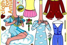 Paper dolls School of princesses