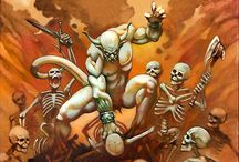 Thrash Metal Art / These are covers painted by Philip Lawvere in the 80s for Thrash Metal legends like Kreator, Celtic Frost, Deathrow and others.