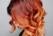rude ombre red hair