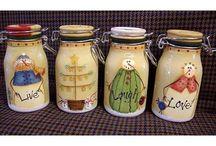 банки бутылки декор