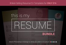 Creative Market / My Creative Market templates, the best in modern, clean and useful design! Easy to edit and tailor to your career needs. Get noticed with the perfect #resume #cv and cover letter