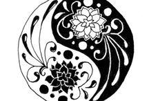 desenhos ying yang