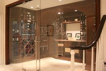 Wine Room by Drexler Shower Door / Beautiful glass enclosed wine room for one of our clients.