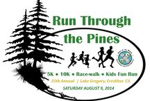 "Run Through the Pines, Lake Gregory, CA / ""A beautiful run centered around community and family!"" The Run Through the Pines has been a community tradition for over 35 years. Located near Lake Gregory in Crestline CA, the event features a 5K, 10K and 2 Kids Fun Runs."