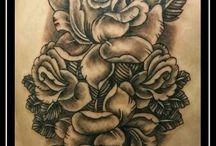 Tattoos by Kano / Tattoos done by Carlos Ruiz Moreno