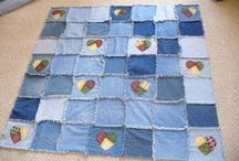 Recycled denim quilts