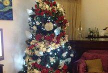 #christmastree / #alberodinataletendenza2015/16 #alberodinataleconrosebiancherosse