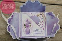 CraftEmotions- Romantic Orchid / Hier zien je kaarten of andere creatie's die gemaakt zijn met het design papier Romantic Orchid