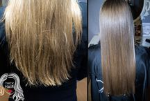 Восстановление, лечение, термо-реконструкция волос / Botox for hair,  ботокс, кератин для волос, абсолютное счастье Lebel, полировка волос