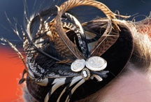 raise your hand if you love a hair piece or hat / by Christine Habib