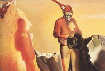 Salvador Dalí / Salvador Dalí, de son nom complet Salvador Domingo Felipe Jacinto Dalí i Domènech, marquis de Dalí de Púbol, né à Figueras le 11 mai 1904, et mort dans la même ville, le 23 janvier 1989, est un peintre, sculpteur, graveur, scénariste et écrivain catalan de nationalité espagnole. Il est considéré comme l'un des principaux représentants du surréalisme, et comme l'un des plus célèbres peintres du XXe siècle. (wikipedia)