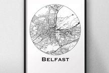 Affiches de ville Irlande du Nord