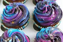 Galaxy cupcakes and cakes
