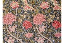 """Fabrics & Prints / when I was a little girl I found this amazing book """"parpiers cadeau"""" in a jumble sale - it has the most amazing floral prints and ever since I have loved floral fabric, paper and prints. Particularly William Morris - sometimes I think I was born in the wrong era...."""