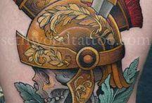 Tatoo casque romain