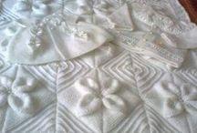 yapraklı bebek battaniyesi