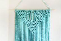 Makramee / Ideoita makramee tekstiilien solmimiseen