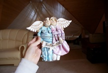 Angels - salt dough