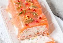 terrine au saumon et crevettes  courgettes