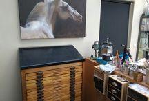 Goudsmeed atelier en werkzaamheden. / Foto's gemaakt in atelier.