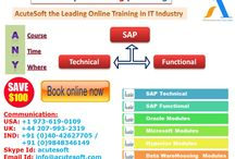 AcuteSoft offers 100$ OFF on all SAP(Technical & Functional) and NON SAP Modules from Experts.