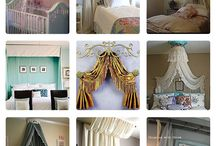 HANGING DECORATIONS / ..beaded curtains ..garland ..Canopus ..hammocks ..fabrics  ..colorful, sheer, lace, ribbon ..window covering, entryways, wall accents ..eyes, sun, moon, hearts, nature ..chandeliers ..lamps ..simple diy projects  / by Jilli koko