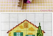 cross stitch evler