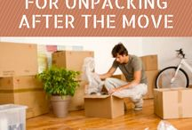 moving/unpacking / Great ideas and tips on decluttering, packing, organizing and preparing for a move and how to make it easy to unpack once at your new space.