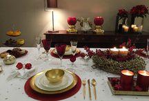 """Mesa de Natal /  """" Elaborada com muito carinho """""""