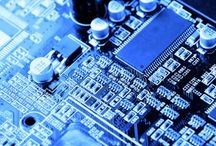 Close-up Circuits and Circuit Boards (PCB) / Pictures of circuit boards, motherboards, breadboards, basically any electronic boards - just close up. Spot the Atmel, no prizes.