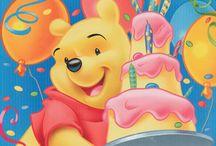 Winnie The Pooh Birthday greetings.