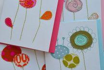 Stitched card ideas