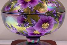 Colors of Carnival Glass / Beautiful carnival glass / by Laurie Welsh